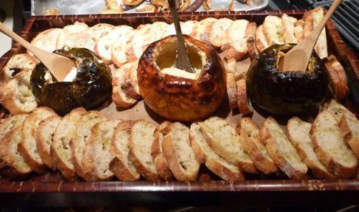 pumpkin fondue tray