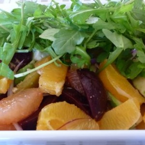 Citrus and Beet Salad with Avocado and Arugula