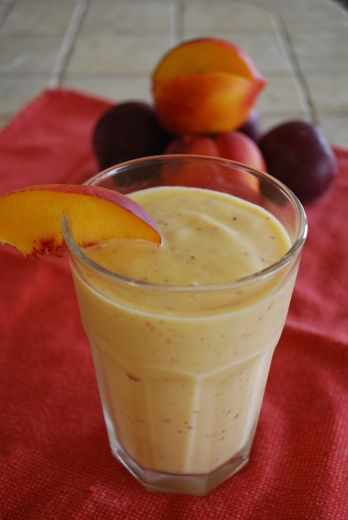 Nectarine - Yogurt Smoothie In a blender combine: 2 medium nectarines ...