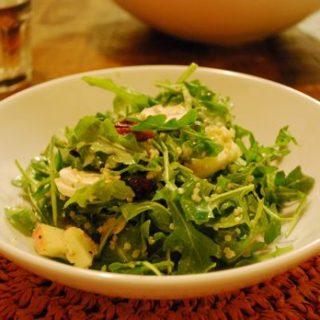 Arugula Salad with Quinoa and Dried Cherries