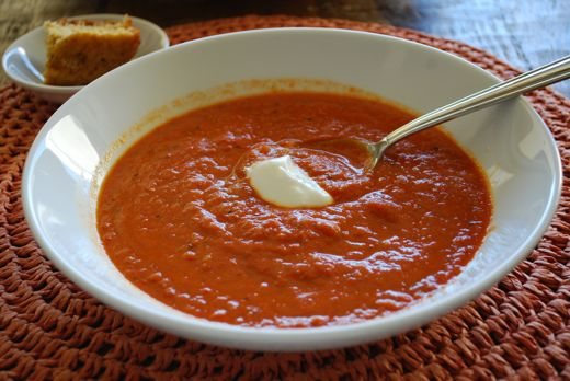 tomatoes and bell peppers are summer veggies but this soup offers a ...