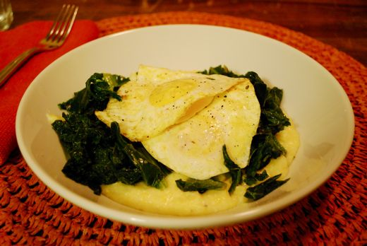 ... shrimp with black eyed peas and collard greens eggs diablo on polenta