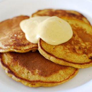 Pumpkin Pancakes with Pumpkin Yogurt Mousse