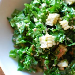 Kale Salad with Fresh Corn