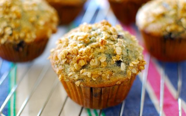 Blueberry Muffins with Kefir