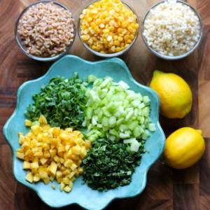 Yellow Lentil Power Salad