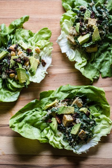 Caesar Lettuce Wraps with Quinoa, Kale and Tofu - Eating ...
