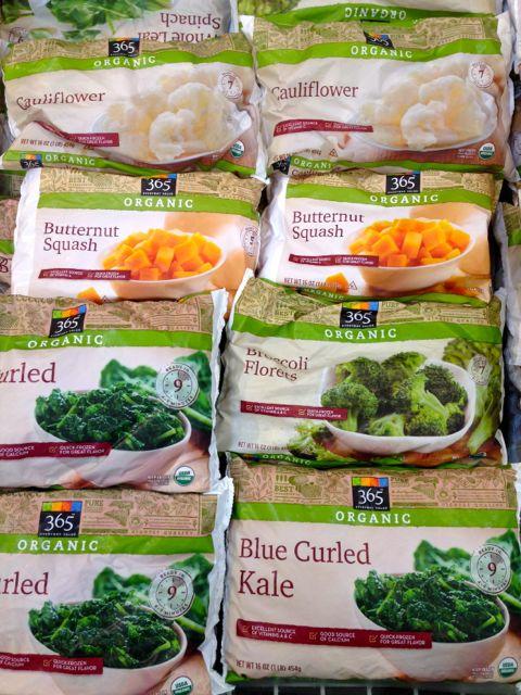 bags of frozen vegetables