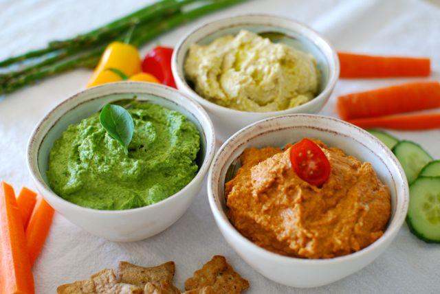 Three-Color Hummus Recipe