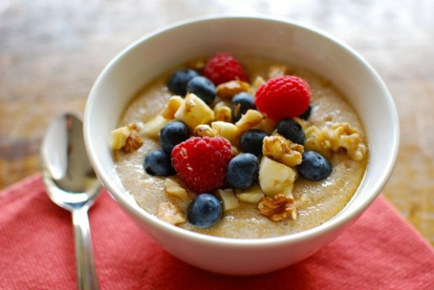 Blueberries 'N' Cream Amaranth Porridge Recipe — Dishmaps