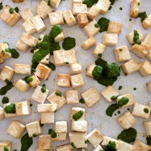 Pesto Roasted Tofu