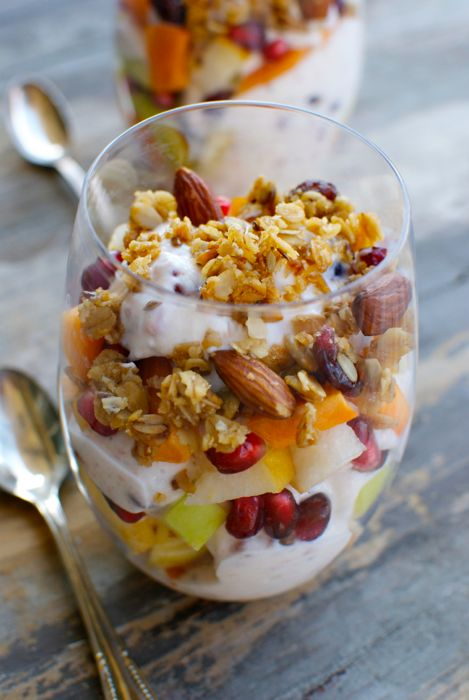 Fall Fruit and Yogurt Parfaits - Eating Made Easy