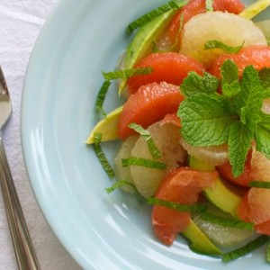 Grapefruit Salad with Avocado, Honey and Mint