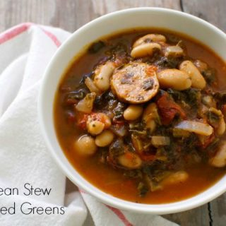 White Bean and Sausage Stew with Wilted Greens