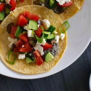 Quick Hummus Tacos
