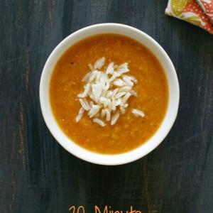 20 Minute Red Lentil Soup