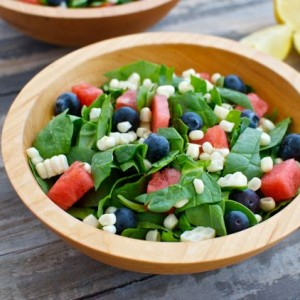 Red, White and Blue Salad (Just 4 ingredients)