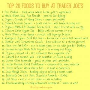 Top 20 Foods to Buy At Trader Joe's