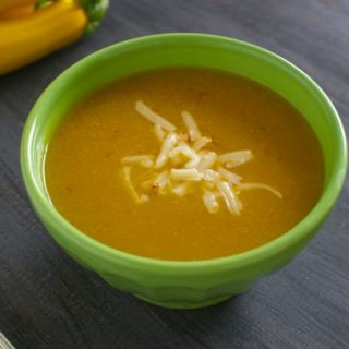 Summer Squash Soup with Chipotle and Cheddar
