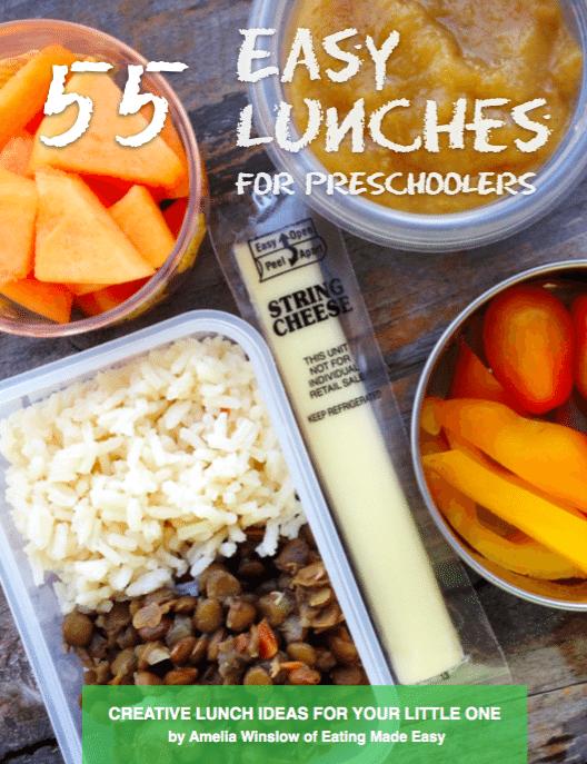 55 school lunches for preschoolers