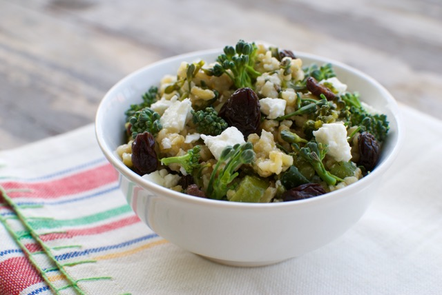 freekeh and broccoli salad