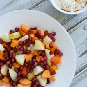 Fall Fruit Salad with Cinnamon Maple Yogurt