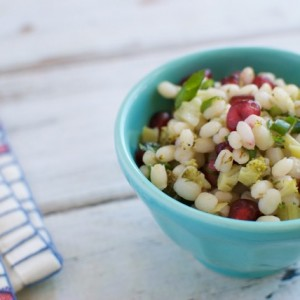 15-Minute Barley and Pomegranate Salad