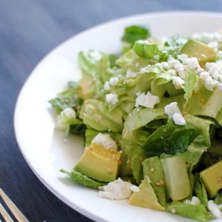 Romaine Heart Salad with Easy Avocado Vinaigrette