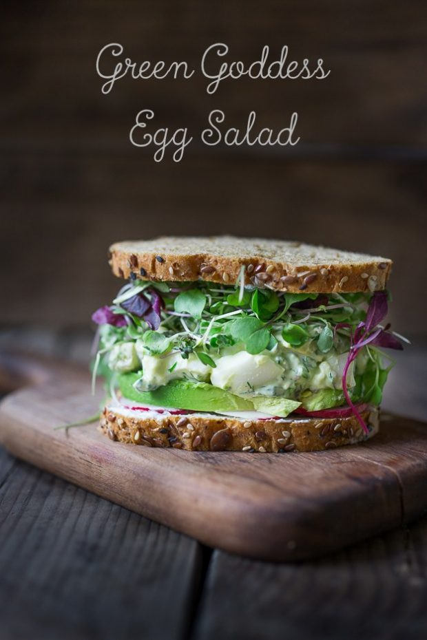 green goddess egg salad sandwich