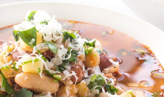 Italian Bean and Pasta Soup