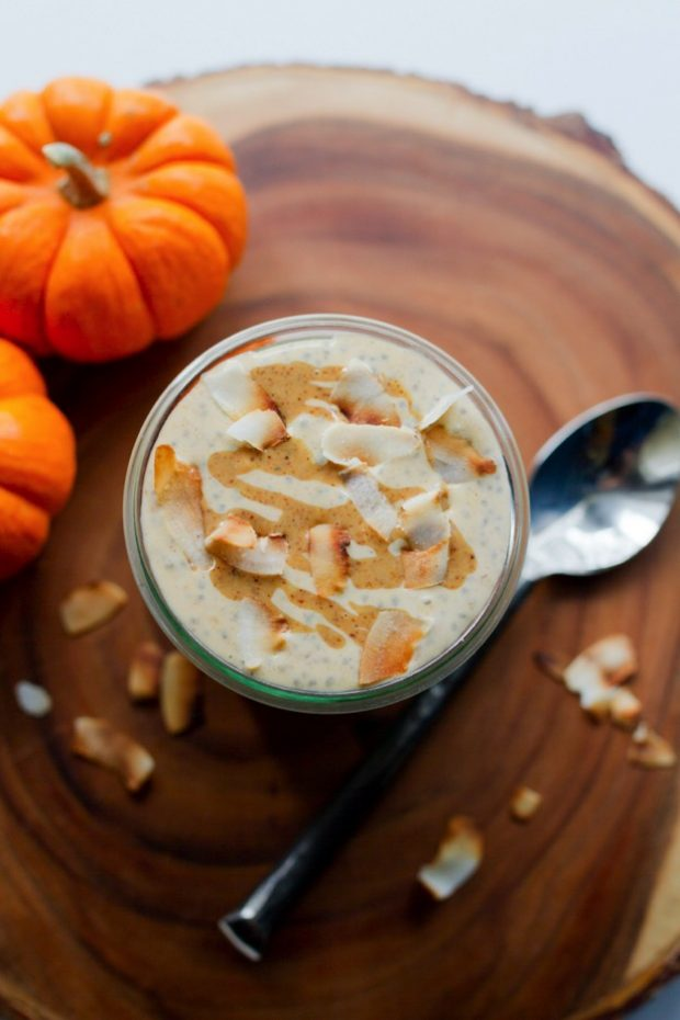 coconut pumpkin chia pudding