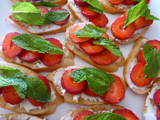 strawberries with goat cheese