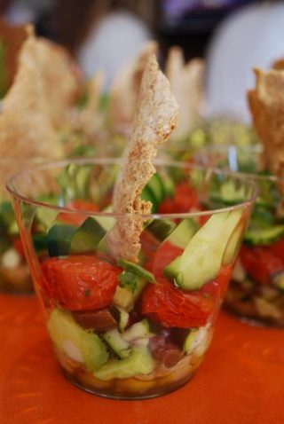 greek salad cups