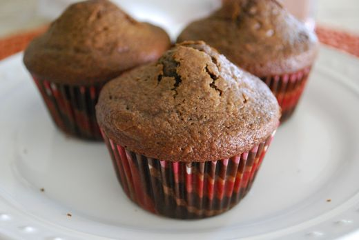 Healthy Double Chocolate Muffins