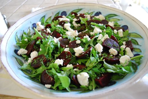 Beet & Arugula Salad with Feta and Fresh Dill - Eating Made Easy