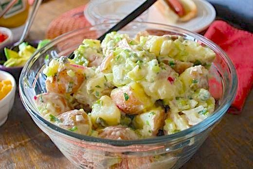 Summer bbq side dish lightened potato salad eating made for Easy salad ideas for bbq