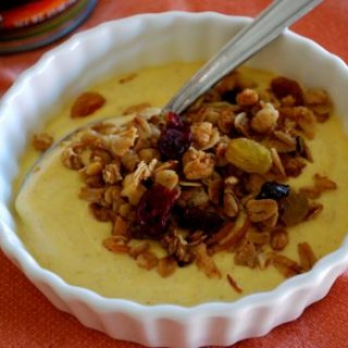 Pumpkin Yogurt with Granola