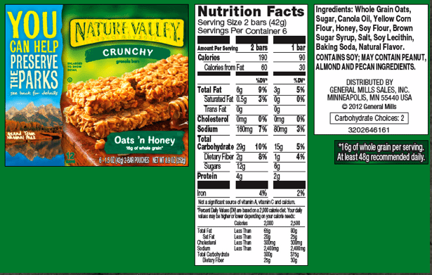 is nature valley healthy