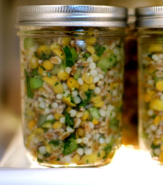 yellow lentil salad