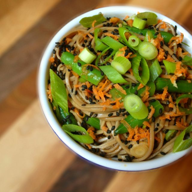 Soba Noodle Salad with Sesame Ginger Vinaigrette - Eating Made Easy