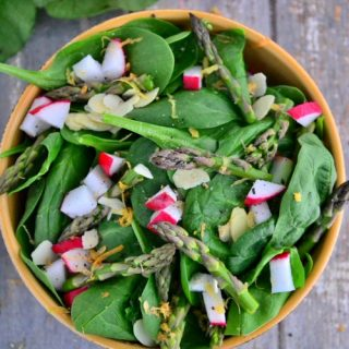 Radish Spinach Salad with Balsamic-Lime Dressing