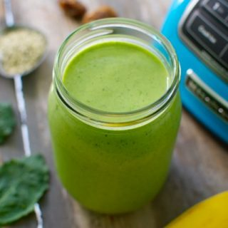 Creamy Green Hemp Seed Smoothie
