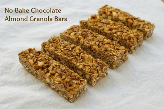 chocolate almond granola bars