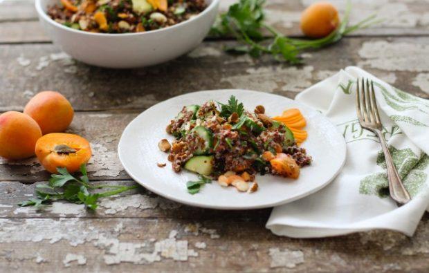 apricot almond quinoa salad