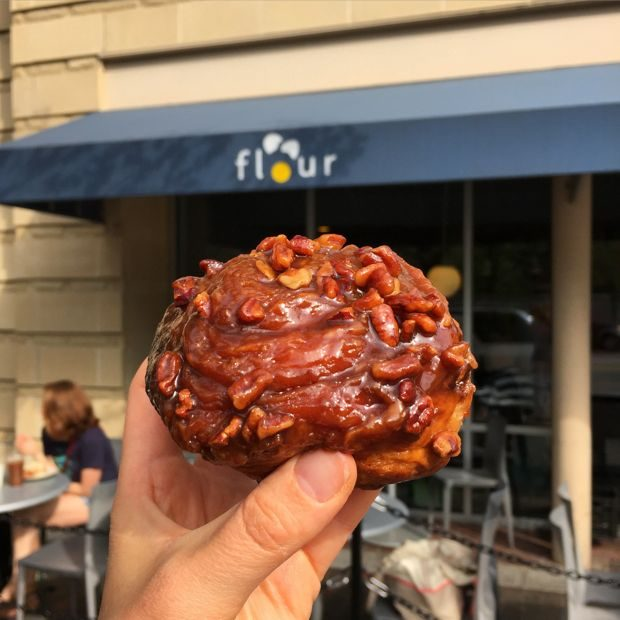 sticky bun from flour