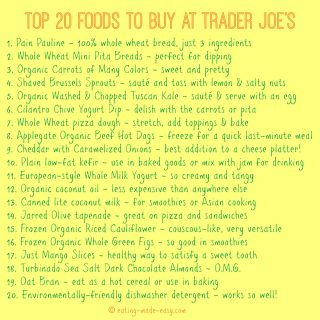 Trader Joe's Shopping List | Eating Made Easy