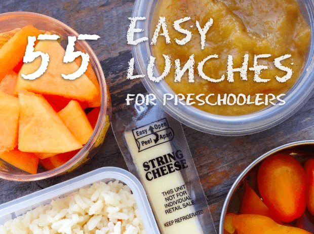 easy lunches for preschoolers