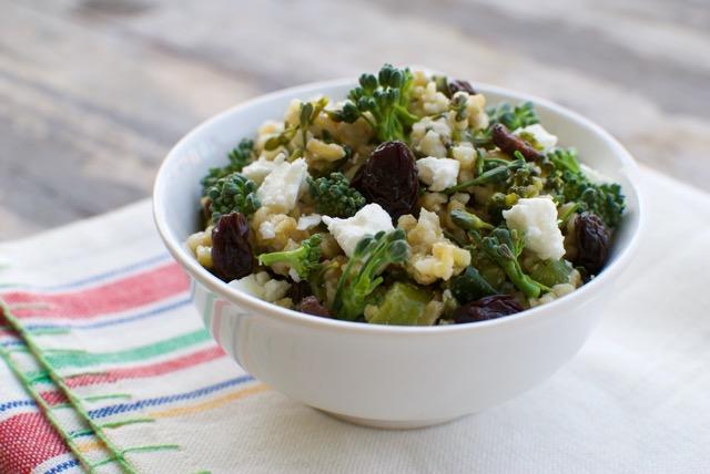 freekeh and broccoli salad