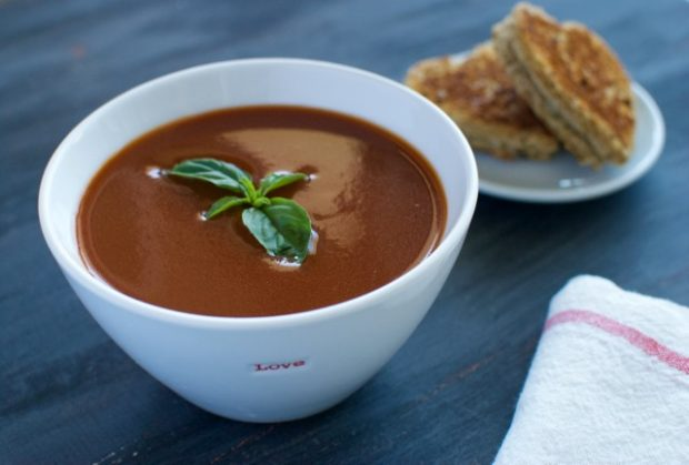 Annie's Creamy Tomato Soup with Heart-Shaped Grilled Cheese