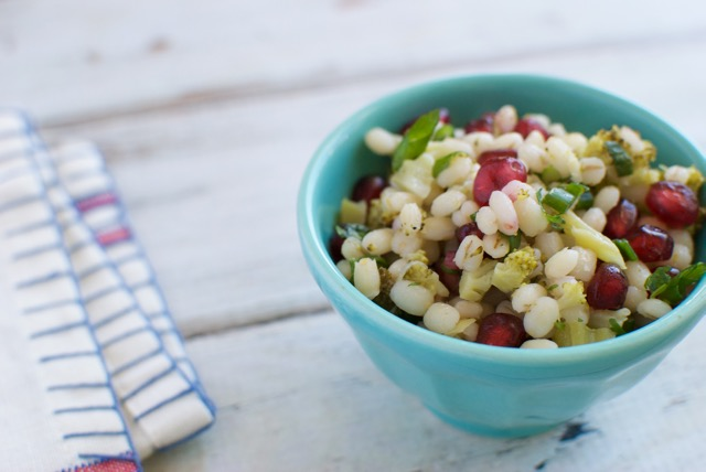 barley salad with pomegranate